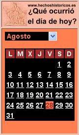 Gadget Calendario.Calendario De Efemerides Gratis En Su Web O Blog Gadget